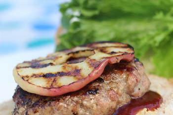Ambrosia apple on burger