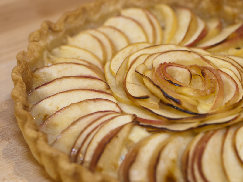 Ambrosia apple and brie tartlets