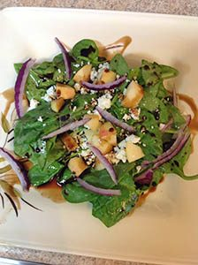 Ambrosia apples spinach salad