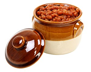 Ambrosia apples and baked beans